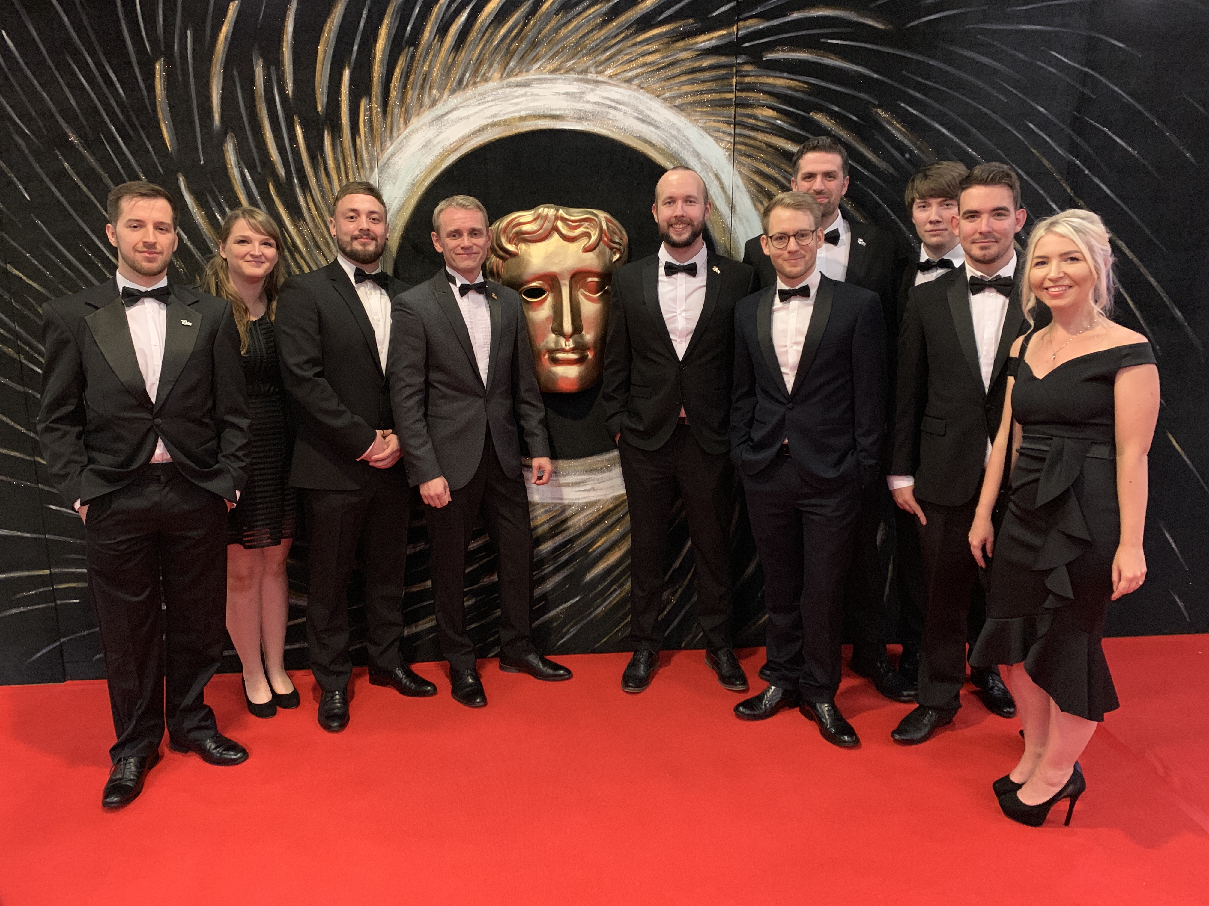 Wales Interactive team on the red carpet at the BAFTAs.