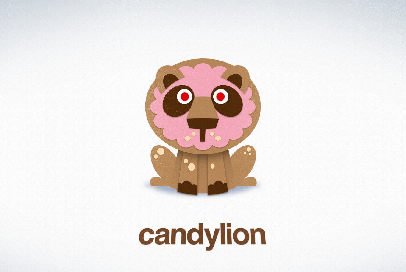 The Candylion - a pink, cartoon lion