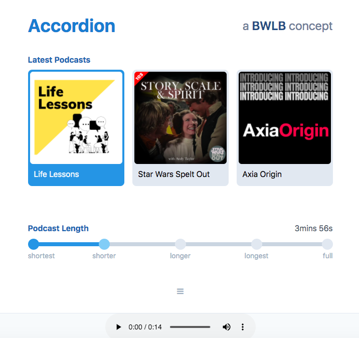 SMART Podcasts accordion graphic