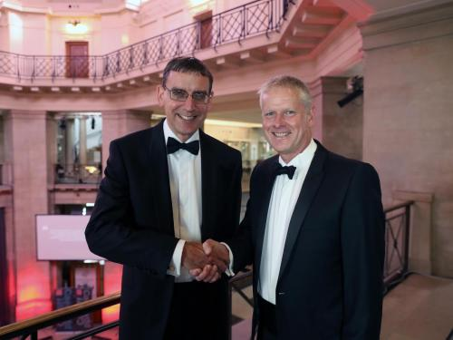 John Pullinger CB, UK National Statistician and Professor Colin Riordan, Vice-Chancellor, Cardiff University